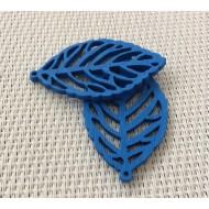 2 estampes en bois bleues