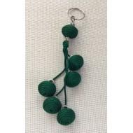 Bijou de sac/porte clés Vert en sabra