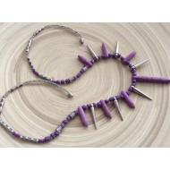 Collier fantaisie violet