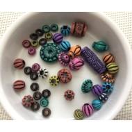 Assortiment de perles de type népalaises