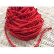 Cordon tressé rouge