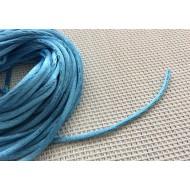 Cordon tressé en nylon bleu ciel