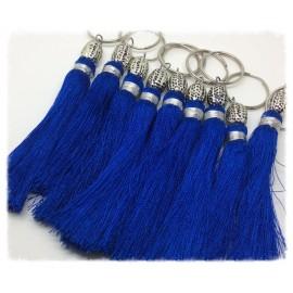 Pompon en Soie 13 cm Bleu Électrique