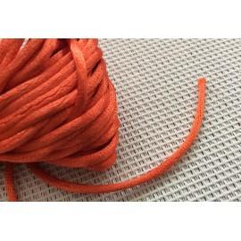 Cordon tressé Orange en nylon