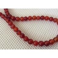 20 perles agates 6 mm