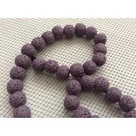 Lot de perles volcaniques violettes