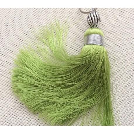 Pompon en soie de couleur Verte