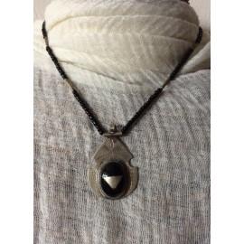 Collier touareg avec agate noire