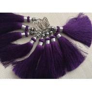 Pompon brelque en Soie de couleur Violet