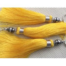 Pompon soie végétale jaune sable